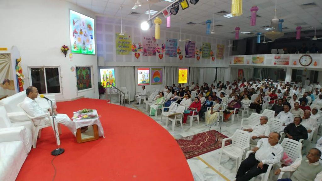 दिनांक 07/02/2020, शुक्रवार से 10/02/2020-सोमवार, के दिन अटलादरा सेवाकेंद्र वडोदरा द्वारा चार दिवसीय पारिवारिक शांति और परमात्मा अनुभूती शिविर का आयोजन किया
